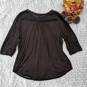 Lucky Brand Tops - Lucky Brand Black Knit Top